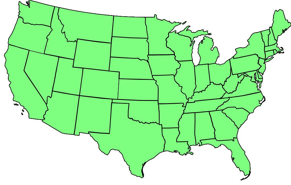 United States Hamiltonian Paths Null Program - Us 48 states map