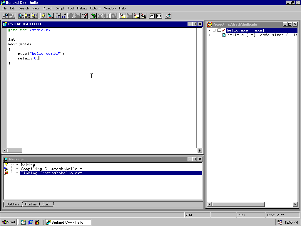 Blast from the Past: Borland C++ on Windows 98 « null program